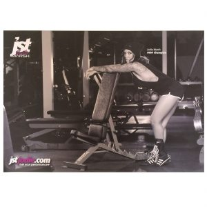 JST_Nutrition_Signed_A2_Gym_Poster_Jodie_Marsh_Bench